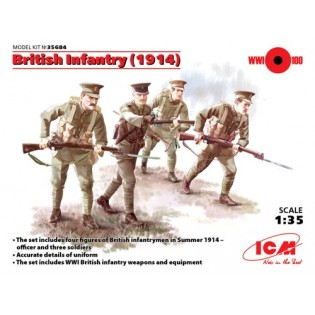 British Infantry 1914 WWI (4 figures)