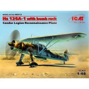 Henschel Hs 126A-1 w. bomb rack, Condor Legion recce Plane