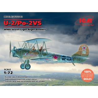 Polikarpov U-2/Po-2VS WWII Soviet Light Night Bomber (100% new molds)