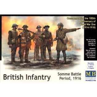 British Infantry, Battle of the Somme, 1914