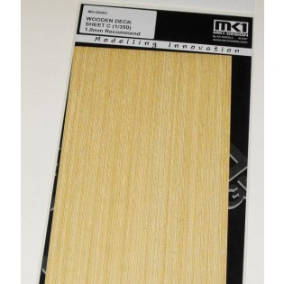 WOODEN DECK SHEET C, 1.0mm for 1/350