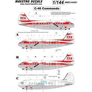 C-46 Commando decal TransAir SEE INFO
