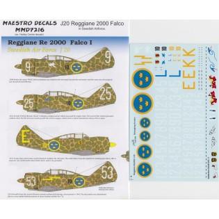 J20 Regianne 2000 Falco in Swedish AF service