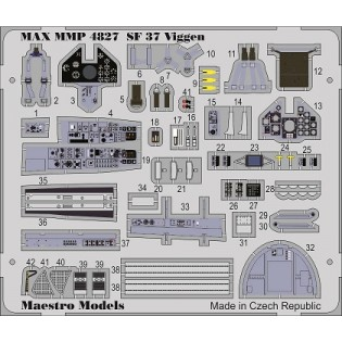 SAAB SF37 Viggen (fotonos) cockpit detail set (TAR)
