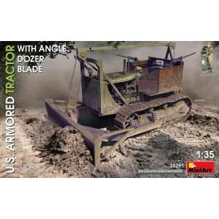 US Armoured tractor with angle dozer blade