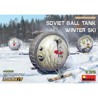 Soviet BALL TANK with WINTER SKI and INTERIOR KIT