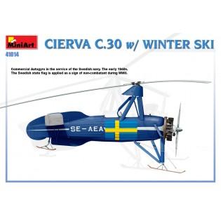 Avro Cierva C.30 w. skis