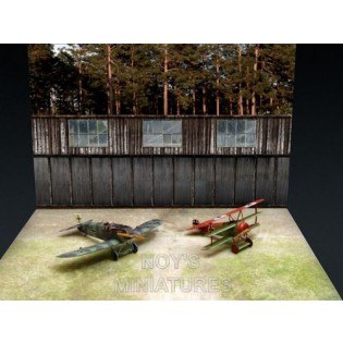 WWI Airfield Set with Bonus Backdrop