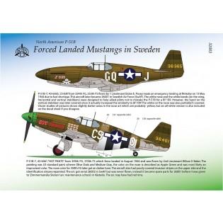 J26 P-51B Force Landed Mustangs in Sweden