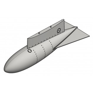 SAAB J29 Tunnan fälltankar typ 1, utan fenor