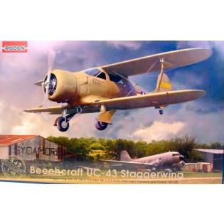 Beechcraft Staggerwing UC-43 med svenska dekaler