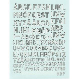 Vita bokstäver med svart kant Flygvapnet 1944-1964