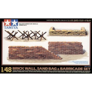 Bricks, sandbags, barricade set