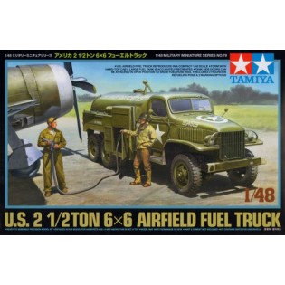 US 2,5 Ton 6x6 Airfield Fuel Truck w. 3 Figures