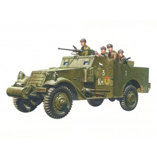 M3A1 Scout car incl. 5 Russian figures