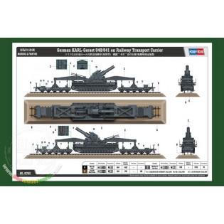 Karl Gerät 040/041 on railway transport carrier