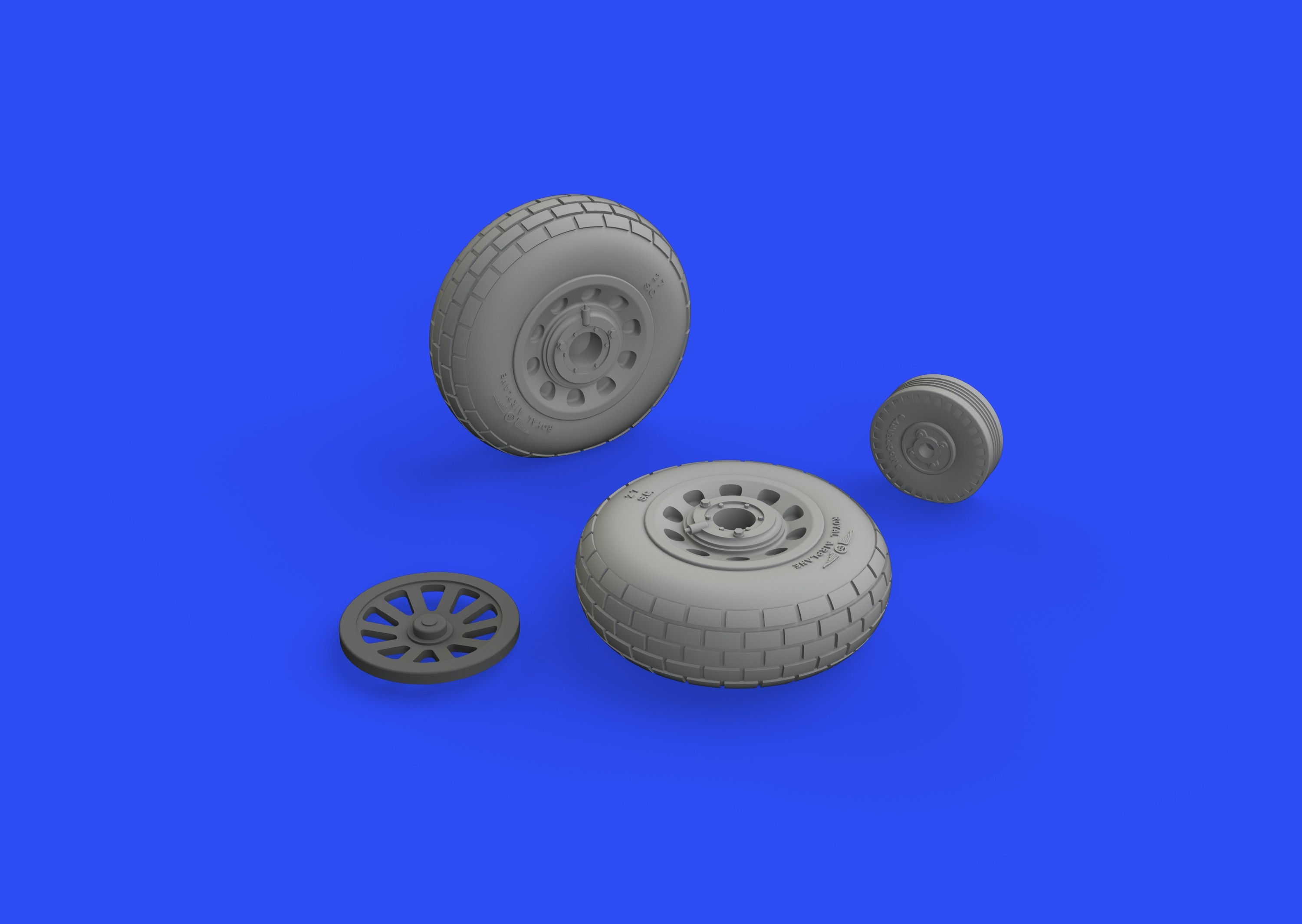 P-51D-5 Mustang wheels block tread (for Eduard kits)