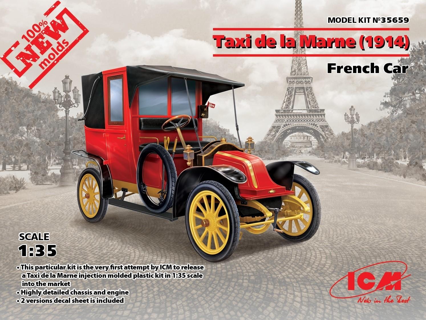Taxi de la Marne (1914) French Car NEW MOLDS