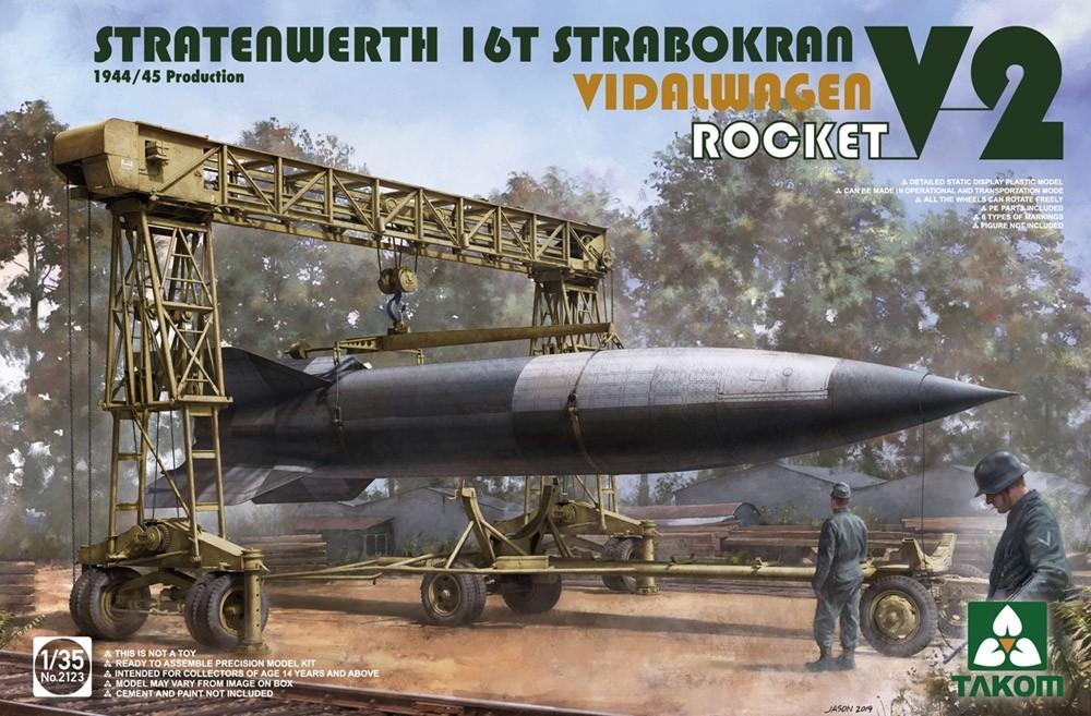 Stratenwerth 16t Strabokran 1944/45 Production w. V-2 Rocket & Vidalwagen