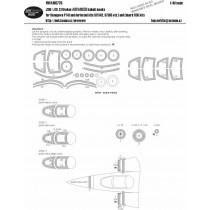 Saab J35F/J (O,S) Draken ADVANCED masking set (HAS)