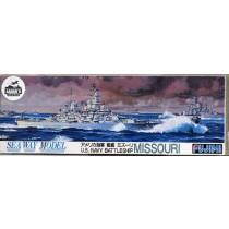 US Navy Battleship Missouri waterline