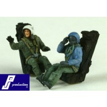 French pilots, seated, modern, 2 pcs