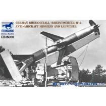 German Rheinmetall Rheintochter R-2 anti-aircraft missiles and launcher