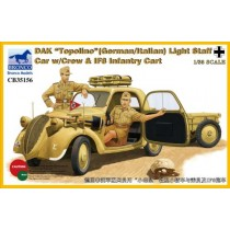 DAK Topolino (German/Italian) Light Staff Car with Crew & IF8 Infantry Cart