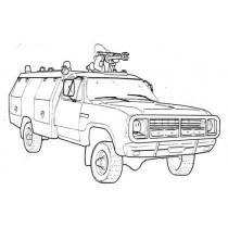 Dodge Räddningsbil Rtgb 922 w. decals
