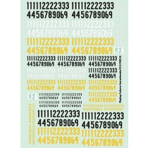 SwAF numbers 1935-63, bold