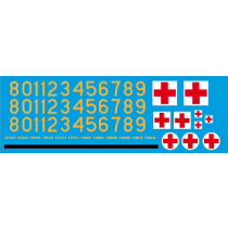 Decals for Volvo C304 TGB 1315 ambulance