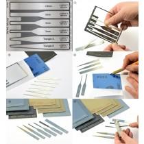 Sanding Sheet of Sticker type (Full Set 8 EA & PE holding tool)