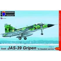 SAAB JAS39 Gripen in Swedish Service, ex-Italeri