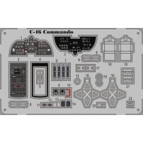 C-46 Commando detail set w. color etch.