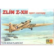 Zlin Z-XII open canopy SE AGS