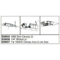 A6M Zero vacform canopy x 2