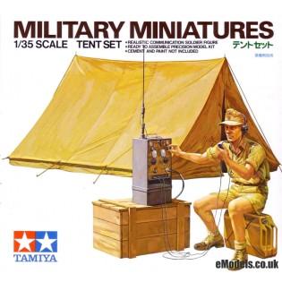 Tent Set and Afrika Korps radio operator