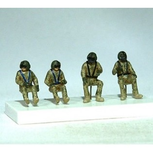 HU-60 Blackhawk crew, 4 figures