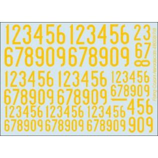 Yellow SwAF numbers 1936-62, narrow