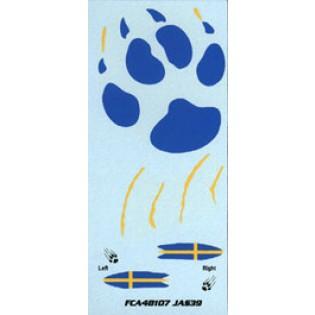 JAS39 Gripen special Paw marking 2006