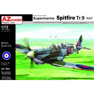 Spitfire Tr.9 RAF Trainer x 4 schemes. Old and modern.