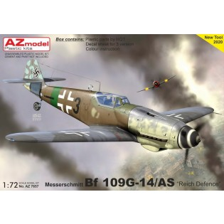 Bf109G-14/AS, Reich Defense. New (re-designed) fuselage parts