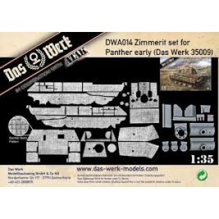 Zimmerit Set für Panther early (DB pattern)