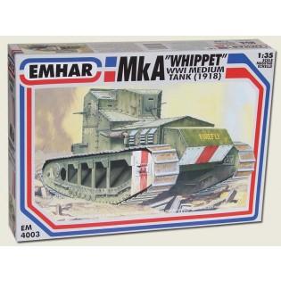 Whippet, WWI medium battle tank