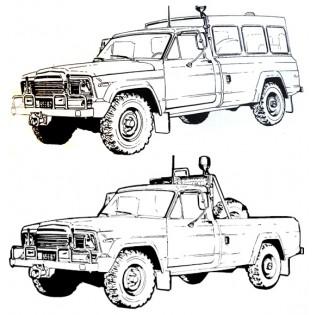 Klargöringsbil 9711/9712 Dallas Jeep Pickup eller hardtop