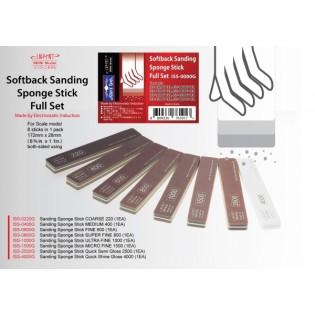 Softback sanding stick, full set of  8 (grit 220 till 4000)