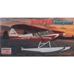 Piper Super Cub Bush plane with floats
