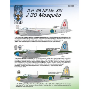 J30 Mosquito Mk. XIX, 6 marking options