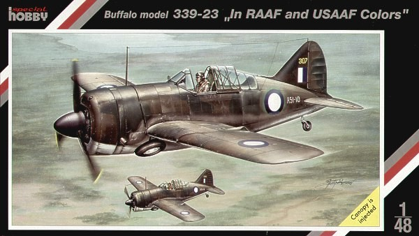 Brewster Buffalo model 339-23 In RAAF and USAAF colors