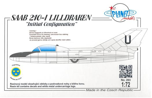 SAAB 210-I Lill-Draken, initial configuration